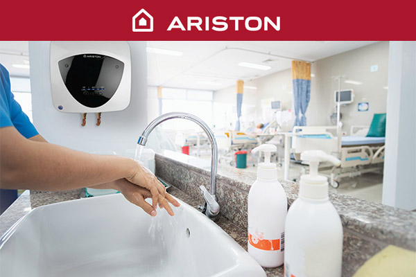 Ariston provides essential hot water for healthcare applications