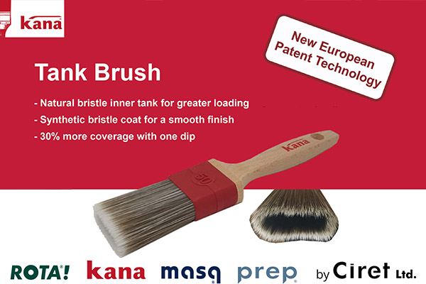 Ciret's Big News – European Patent for the Kana Tank Brush