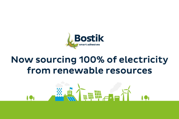 Bostik UK maximises sustainability with move to 100% renewable electricity